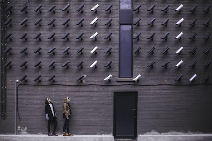 two women under camera surveillance